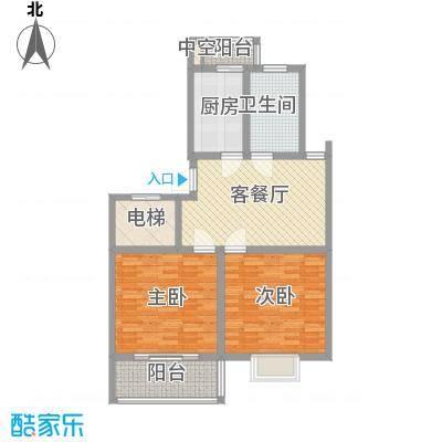 西欧名邸89.08㎡西欧名邸户型图3期6#楼A1户型2室1厅1卫1厨户型2室1厅1卫1厨