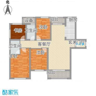 旭辉中央宫园136.00㎡户型4室2厅2卫1厨