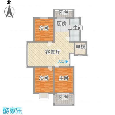 西欧名邸118.85㎡西欧名邸户型图3期3#楼B3户型3室1厅1卫1厨户型3室1厅1卫1厨