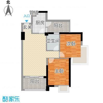 碧桂园凤凰城凤天苑户型图2室2厅户型图 2室2厅1卫1厨