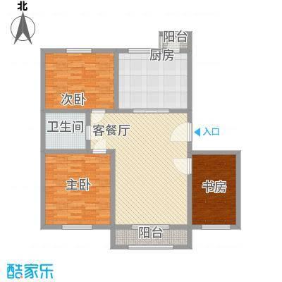 泰和尚都B1标准层户型3室2厅1卫1厨
