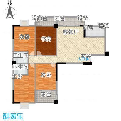 万豪臻品户型图二期06、12单元户型 4室2厅2卫1厨