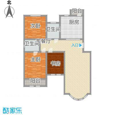 泰和尚都G4标准层户型3室2厅2卫1厨