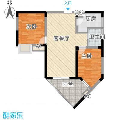 金星家园87.57㎡金星家园户型图6#B座精装修87.57㎡2房2厅1卫2室2厅1卫1厨户型2室2厅1卫1厨