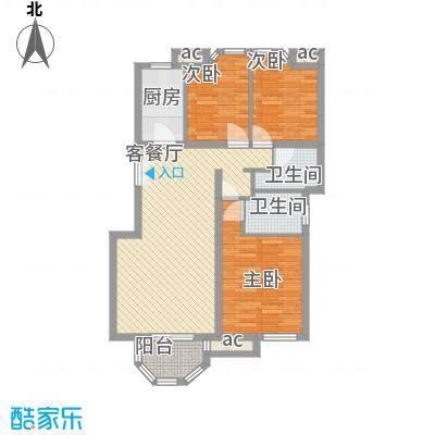 怡莲新城102.00㎡怡莲新城2室户型2室
