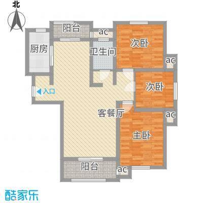 怡莲新城104.00㎡怡莲新城3室户型3室
