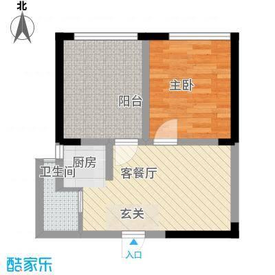 美桐1号公寓项目58.25㎡美桐1号公寓项目户型图B1室1厅1卫1厨户型1室1厅1卫1厨