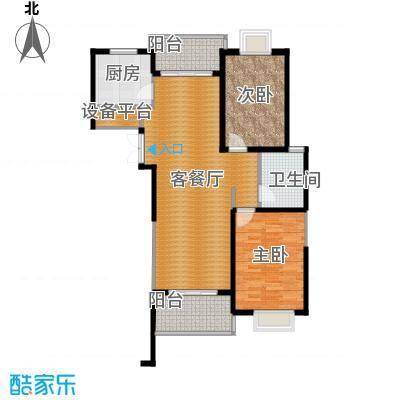 滨湖品阁91.60㎡100116085119205119436(2)户型2室1厅1卫1厨