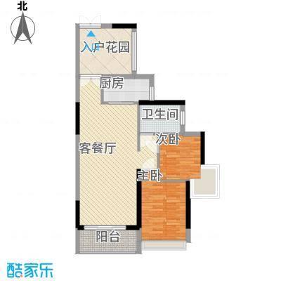 山畔阳光山畔阳光户型图D4栋标准层02单元户型2室2厅1卫户型2室2厅1卫