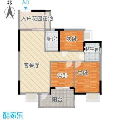 山畔阳光山畔阳光户型图D3栋标准层02单元户型3室2厅1卫户型3室2厅1卫