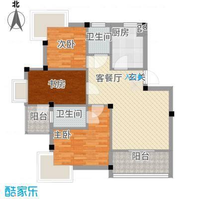 东海花园195.00㎡东海花园6室户型6室