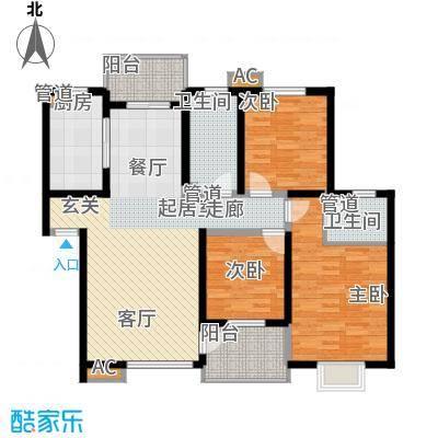 幸福大街119.76㎡幸福大街户型图d5售完3室2厅2卫1厨户型3室2厅2卫1厨