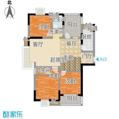 幸福大街127.90㎡幸福大街户型图g3售完3室2厅2卫1厨户型3室2厅2卫1厨