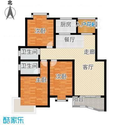 金典名筑128.00㎡金典名筑户型图E3室2厅2卫1厨户型3室2厅2卫1厨