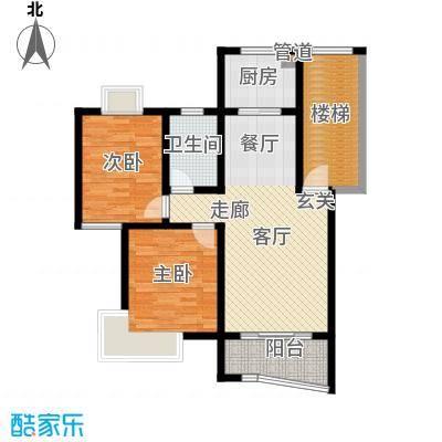 金典名筑90.00㎡金典名筑户型图户型12室2厅1卫1厨户型2室2厅1卫1厨