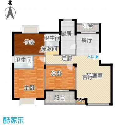 龙兴苑125.00㎡龙兴苑2室户型2室