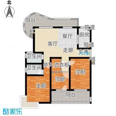 金典名筑138.00㎡金典名筑户型图R3室2厅2卫1厨户型3室2厅2卫1厨