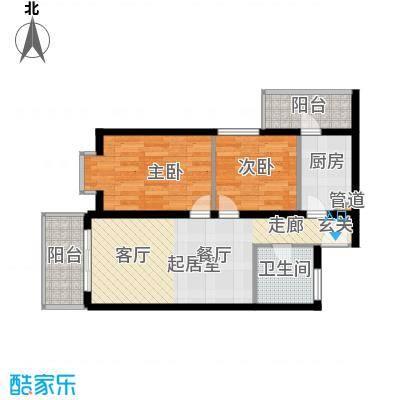 龙兴苑63.00㎡龙兴苑2室户型2室