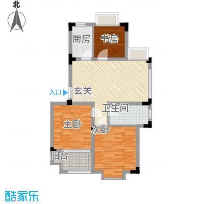 东方华庭82.90㎡东方华庭户型图WD5户型3室2厅1卫1厨户型3室2厅1卫1厨