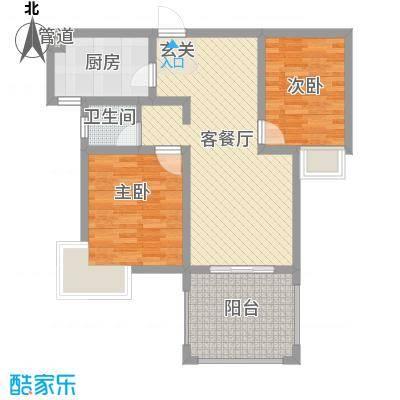 乡村花园南艳湾70.00㎡乡村花园南艳湾2室户型2室