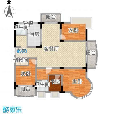 乡村花园南艳湾户型图4室2厅2卫1厨