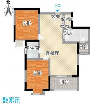 世纪阳光花园 2室 户型图
