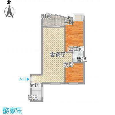 �泰大厦82.15㎡�泰大厦户型图B座9-31层7单位2室2厅1卫1厨户型2室2厅1卫1厨