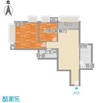 �泰大厦98.55㎡�泰大厦户型图B座30-31层012室2厅1卫1厨户型2室2厅1卫1厨