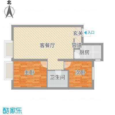 万科城・明户型图2室2厅户型图  2室2厅1卫1厨
