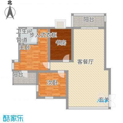 金桥花园122.00㎡金桥花园3室户型3室