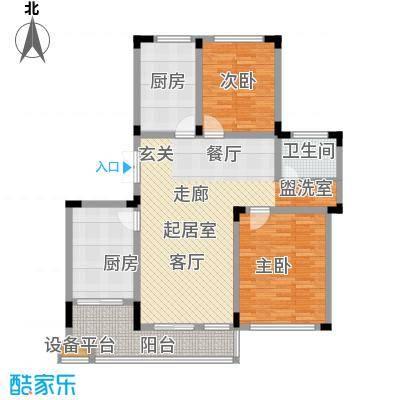 明珠湖畔107.21㎡明珠湖畔户型图20061120-4B户型3室2厅1卫1厨户型3室2厅1卫1厨