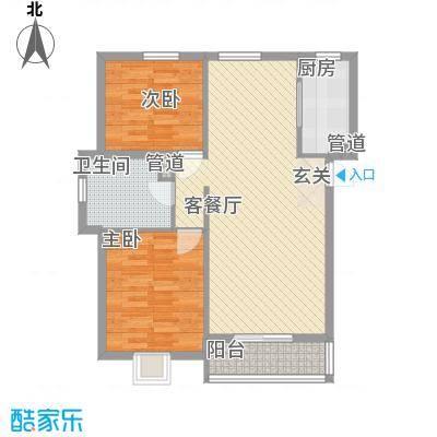 将军花园名仕园祥2室2厅1户型2室