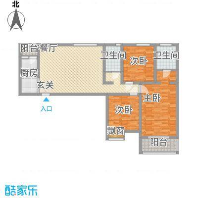 新开苑新开苑户型图三室两厅两卫43室2厅2卫1厨户型3室2厅2卫1厨