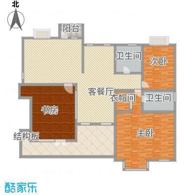 琦琳北辰单别墅2层户型3室2厅2卫1厨