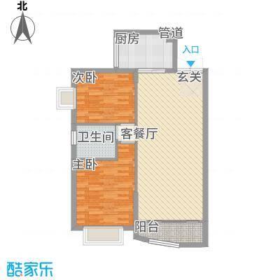 道北六小区2室2厅户型2室2厅1卫1厨