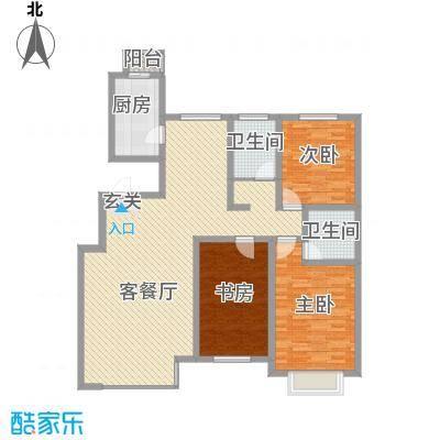 青城一号公馆新3室2厅1户型3室