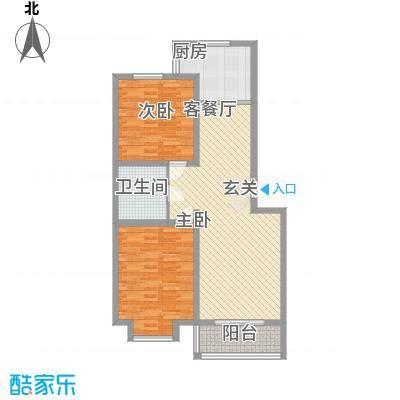 富丽小区2室1厅6户型2室