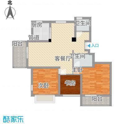 南艳滨湖时光117.00㎡南艳滨湖时光3室户型3室
