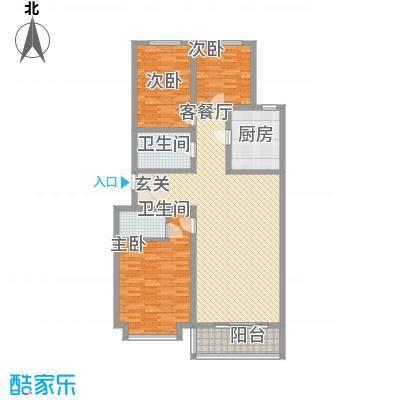 富丽小区3室2厅6户型3室