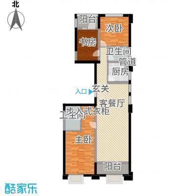 置地广场143.00㎡置地广场户型图5#B户型3室2厅2卫1厨户型3室2厅2卫1厨