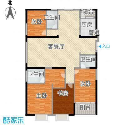 置地广场220.00㎡置地广场户型图G5户型4室2厅3卫1厨户型4室2厅3卫1厨