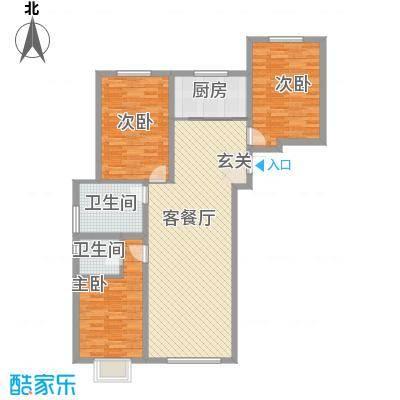 嘉林小区花3室2厅1户型3室