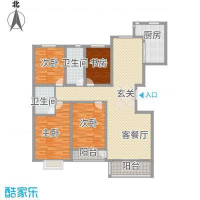 昭君花园4室2厅1户型4室2厅2卫1厨