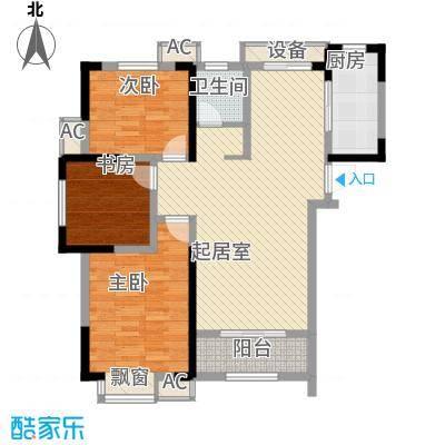 尚泽时代广场105.64㎡尚泽时代广场户型图B5#B13室2厅1卫户型3室2厅1卫