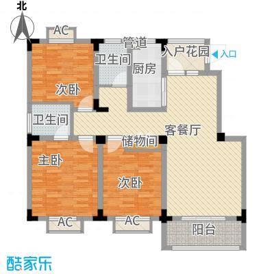 尚泽时代广场113.08㎡尚泽时代广场户型图G13室2厅2卫1厨户型3室2厅2卫1厨