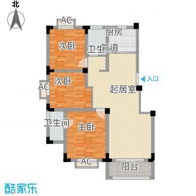 尚泽时代广场104.88㎡尚泽时代广场户型图E23室2厅2卫1厨户型3室2厅2卫1厨