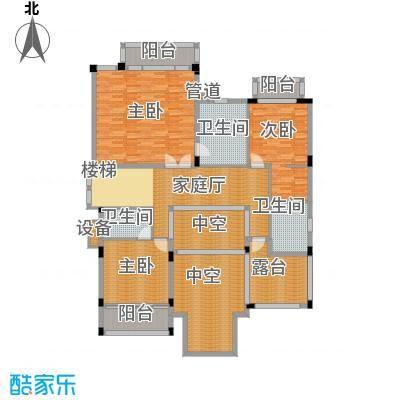 合景天湖峰境299.46㎡合景天湖峰境户型图明泉岛A-b2栋二层3室1厅3卫户型3室1厅3卫