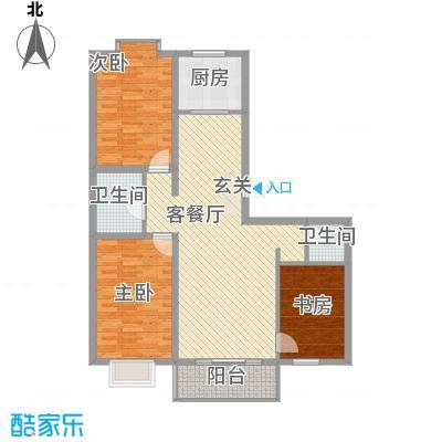 人事厅住宅小区半3室2厅户型3室
