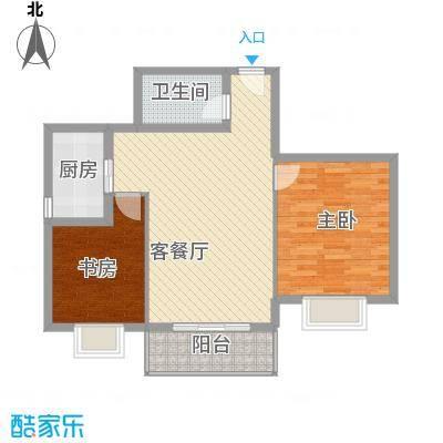 翠屏湾2期兰卡威小镇户型图K户型 2室2厅1卫1厨