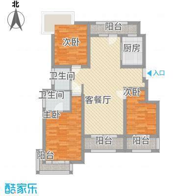 锦绣天下户型图标准层B4户型 3室2厅2卫1厨